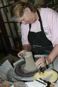 Asheville Pottery Artist Maud Boleman -