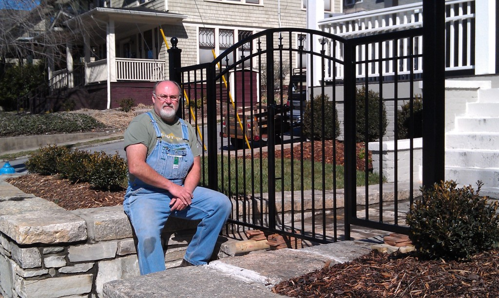Mike Cowan's completed wrought iron gate