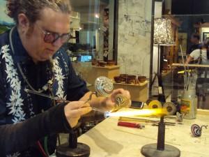 scientific Glassblower Jason Probstein