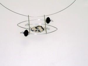Dalmatian Jasper & Black Onyx with Sterling Silver