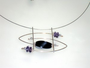 Hematite & Amethyst with Sterling Silver