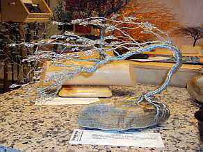 hand-twisted wire bonsai
