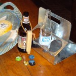 Our custom rust- resistant steel beer carrier - ready for tailgates or inside