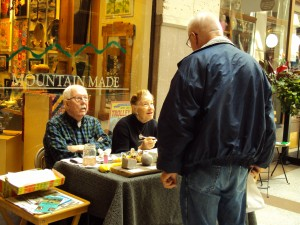 Asheville art demo - ceramic art by jean and carl saake