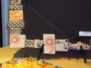 Ceramic Tiled Mirrors by Laura Sommerville