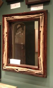 Rustic mirrors by Asheville artist Rick Hills