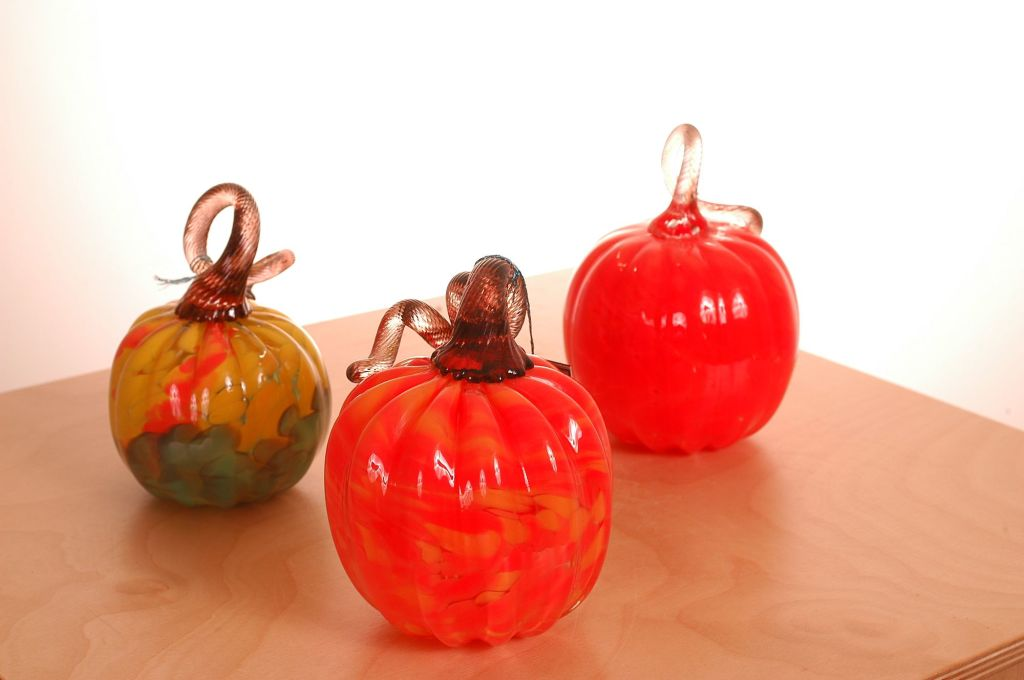 Halloween Decor Ideas: blown glass pumpkins