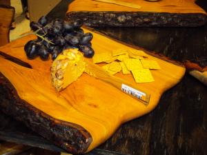 Wood cheese platter