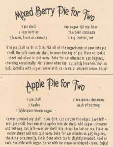 pie for two recipes