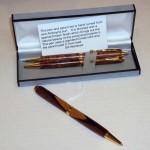 Handturned Wooden Pen-Pencil Sets