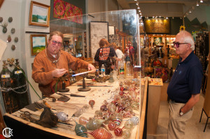 Asheville glass blower: Jason Probstein