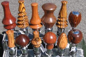 Asheville woodturner - wooden wine stoppers