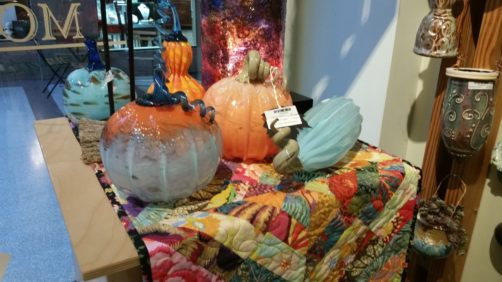 Halloween Decor Ideas: handblown glass pumpkins
