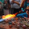 He's Back! Asheville Glass Blower Jason Probstein At Mountain Made For the Holidays