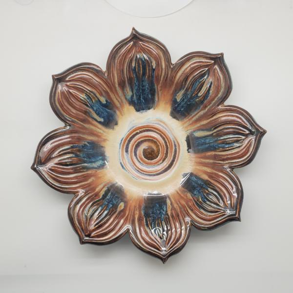 Tony-Bledsoe-Ceramics-10-inch brown bowl