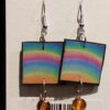 Paper Earrings by Asheville Artist Madeline Parker <br/>(1st Wedding or Paper Anniversary Gift)
